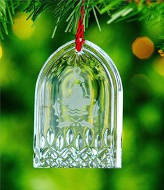 Waterford   Days Of Christmas Eight Maids Crystal Ornament Lismore Edition Dayschristmaswaterford