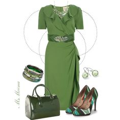 """It ain't easy being green"" by msmeena on Polyvore"