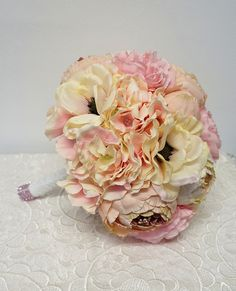 Sweet Home Deco Silk Peony Hydrangea Anemone Flower Wedding Bridal Bouquet Bridesmaid Bouquet Boutonniere (11''W) >>> See this awesome image  (This is an amazon affiliate link. I may earn commission from it)