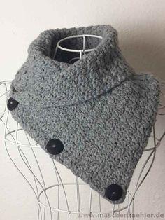 Crochet Designs, Crochet Patterns, Cowl Patterns, Easy Knitting Projects, Thick Yarn, Woven Wrap, Free Crochet, Shawl, Free Pattern