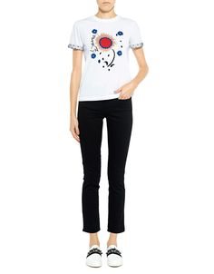 Red Valentino Lace Cuffed Sleeves Tee