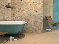 Forever by Cas Cerámica Handcrafted tile with a variety of charming natural imagery in muted tones. In a 15x40cm format, so unique pattern combinations can be made. www.casceramica.com