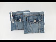 Nähanleitung: Jeans Upcycling - Kosmetiktasche - YouTube