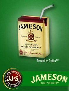 Jameson Irish Whisky juice box I need one of these Whiskey Girl, Cigars And Whiskey, Scotch Whiskey, Bourbon Whiskey, Whiskey Bottle, Liquor Before Beer, Jameson Irish Whiskey, Gula, Root Beer