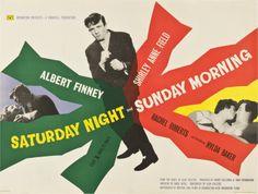 Saturday Night and Sunday Morning (Karel Reisz, 1960) UK quad design