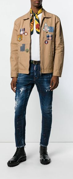 Dsquared2 Patch Shirt Jacket