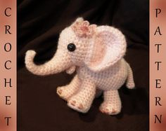 Ella the Elephant  PDF Crochet Pattern by luvbug026 on Etsy, $4.99