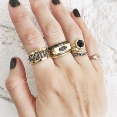 Spotting: Layering Stacks of Chunky Rings Cool Spotting: Layering Stacks of Chunky Rings - Lauren Wolf RingsCool Spotting: Layering Stacks of Chunky Rings - Lauren Wolf Rings Jewelry Shop, Jewelry Rings, Jewelery, Jewelry Design, Pretty Rings, Rings Cool, Silver Necklaces, Silver Jewelry, Diamond Jewelry
