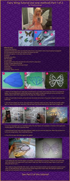 No Sew Fairy Wings Tutorial Part 1 of 2 by *vickybunnyangel on deviantART