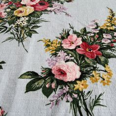 Firle vintage cotton barkcloth from Folly&Glee