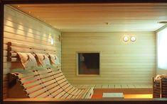 Tuntu-lauteet tuovat saunomiseen uudenlaista pehmeyttä, tunnelmaa ja rentoutta. Riippulauteilla voit tehdä saunomisesta entistä rentouttavampaa. Sauna House, Sauna Room, Saunas, Home Infrared Sauna, Sauna Shower, Indoor Sauna, Sauna Design, Spa Rooms, Interior Decorating
