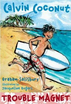 """Fourth-grader Calvin lives near the beach in Oahu with his mom and little sister. Mom says: """"You're the man of the house."""" But Calvin's not great at being the man of the house, or taking care of his responsibilities. He's too busy having fun with his pals, and avoiding Tito, the bully. Trouble Magnet is the first book in a new series for younger readers full of all the fun of growing up in Hawaii."""