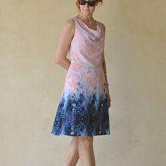 pink/navy DKNY dress - Handmade by Carolyn - Vogue 1351