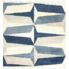 Unique Loom Hygge Shag Balanced Blue 8 ft. x 8 ft. Square Rug 3144084 - The Home Depot Simple Geometric Pattern, Square Rugs, Rugs Online, Animals For Kids, Hygge, Neutral Colors, Colours, Pattern Making, Blue Area Rugs