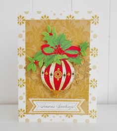 Vintage Inspired  Christmas Card by picocrafts on Etsy
