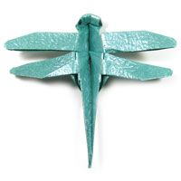 traditional origami dragonfly
