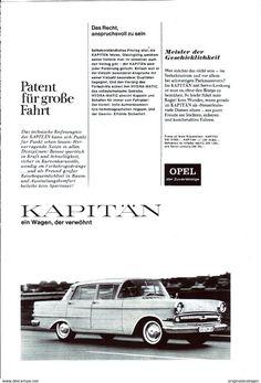 Werbung - Original-Werbung/Anzeige 1964 - OPEL KAPITÄN - ca. 160 x 230 mm