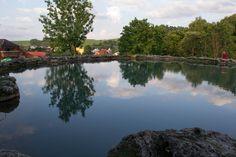 Travertine lake in Spa - Vysne Ruzbachy Slovakia