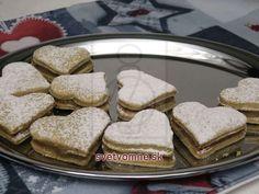 Gaštanové plnené srdiečka • Recept   svetvomne.sk Rum, French Toast, Bread, Breakfast, Food, Cottage, Quotes, Christmas, Basket