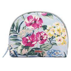 Tropical Garden Half Moon Cosmetic Bag