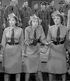 """02 Jan 41: The Andrews Sisters record """"Boogie Woogie Bugle Boy"""" at Decca's Hollywood studios as part of the production of the Abbott & Costello film """"Buck Privates."""" The jump blues song was a major hit for The Andrews Sisters and endures to this day among the most iconic WWII tunes. It is ranked #6 on the Recording Industry Association of America """"Songs of the Century"""" list. More: http://scanningwwii.com/a?d=0102&s=410102 #WWII"""
