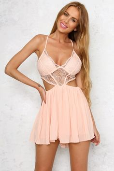 The Lucky Stars Playsuit hits all the new trends with a lace detailed bust…