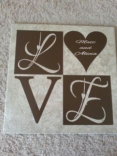 Tile made with the KNK Zing and vinyl Tile Crafts, Vinyl Crafts, Vinyl Projects, Die Cutting, Laser Cutting, Chipboard Crafts, Machine Project, Ceramic Tile Art, Vinyl Tiles