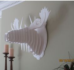 Life Size White Moose Head Wall Trophy by TrueAmbition99 on Etsy, $40.00