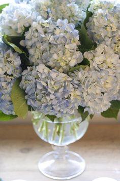 A blue bouquet of hydrangeas- my favs