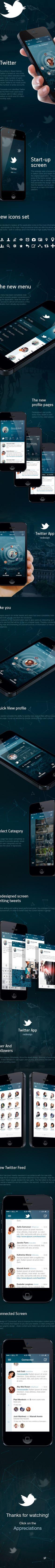 Twitter. Redesign Concept by Maxim Eriomov, via Behance