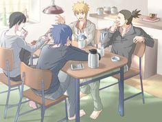 Sai, Sasuke, Naruto, Shikamaru.