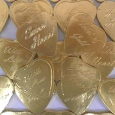 Large gold hearts