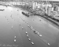 View of the Docklands from the Emirates Cable Cars