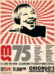 I'll Take You There: Celebrating 75 Years of Mavis Staples Official Gig Poster