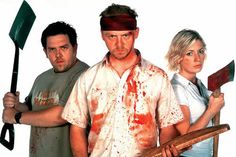 Shaun of the Dead!!! One of the funniest zombie movies ever made.