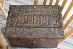 Slippers Box, Art Nouveau, Arts and Crafts era