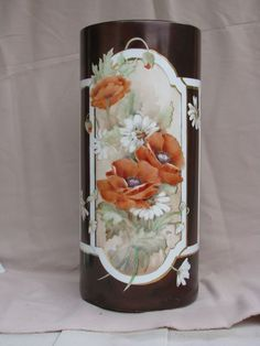 Porcelain Made In China Product China Painting, Tole Painting, Ceramic Painting, Decoupage, Porcelain Vase, Painted Porcelain, Terracota, China Art, Small Art