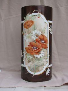 Mom's china painting ... umbrella stand: