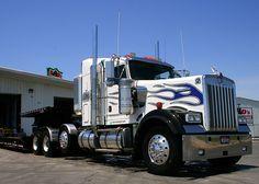 ✿Kenworth W900✿ Kenworth Trucks, Mack Trucks, Semi Trucks, Big Trucks, Rigs, Big Boys, Buses, Tractor, Trailers