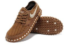 2014 Nike Lava Dome CI ACG Breathable sandals for Men in Brown With White Logo