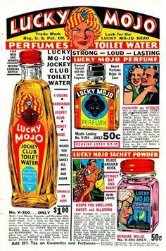 cryptofwrestling:  Lucky Mojo ad(1950s)
