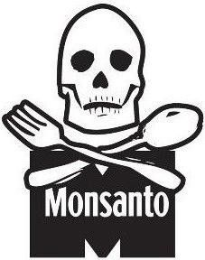 Monsanto skull - Die Cut Vinyl Sticker Decal