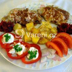 Kotleta se sýrem a šunkou recept - Vareni.cz Meat, Chicken, Cubs