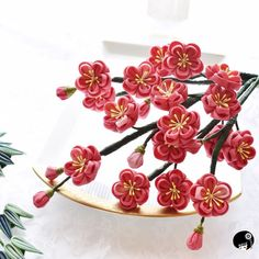 Miscellaneous Goods, Arts And Crafts, Diy Crafts, Kanzashi Flowers, Ribbon Work, Ribbon Crafts, Fabric Manipulation, Hair Piece, Japanese Art
