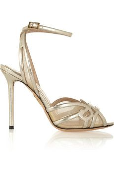 Charlotte Olympia Sugar High leather sandals | NET-A-PORTER