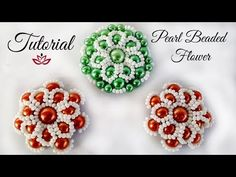 Pearl Flower - Tutorial - YouTube