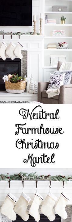 This year I wanted a more farmhouse Christmas mantel and I achieve the look with a few simple and inexpensive purchases from Hobby Lobby. @hobbylobby #hobbylobbyfinds #ad #hobbylobbyholiday #christmas #christmasdecor