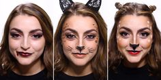 You still have a little time left to get your costume together before Halloween, but if your party store is sold out of every costume in your size, no worries. These three makeup tutorials of Halloween costumes you can create with makeup you probably already have are super easy. The best part? You don't need to buy anything else to complete your look.