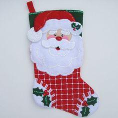botas de navidad fieltro