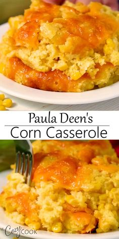 Side dish recipes 63965257196638103 - This easy corn casserole recipe from Paula Deen requires a box of Jiffy mix and 5 other simple ingredients! Make it up to two days ahead of time before baking in the oven! Easy Corn Casserole, Paula Deen Corn Casserole, Corn Cassarole, Cornbread Casserole, Cream Corn Casserole, Paula Deen Cornbread, Corn Pudding Casserole, Creamed Corn Cornbread, Cornbread Pudding